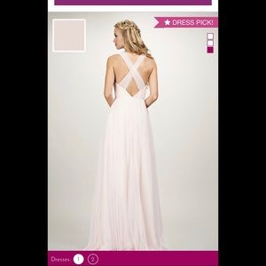 Dresses - Tulle v-neck gown with cross back